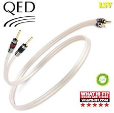 NEW QED REFERENCE XT-40 AUDIO SPEAKER CABLES 2 x 2.0m (A Pair) Terminated
