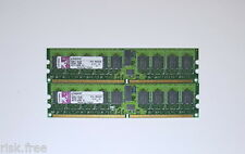 2x Kingston KTH-MLG4/2G 1GB DDR2 PC2-3200 240pin ECC Server Memory