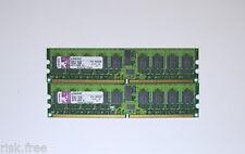 2x Kingston KTH-MLG4/2G 1GB DDR2 PC2-3200 240pin ECC Server Memory @@@