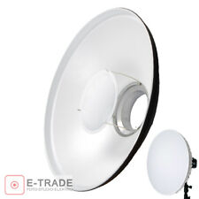 "55cm/22"" WHITE Beauty Dish Reflector Diffuser Bowens Mount for Flash Strobe"