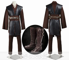 Star Wars Anakin Skywalker Darth Vader Cosplay Costume Full Set +Shoes+Cape