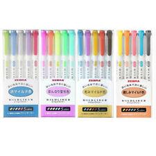 Zebra Mildliner Soft Color 4 set Pen Double-Sided Highlighter Pens 20 colors