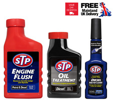 STP Engine Flush Injector Cleaner Fuel Additive Improve Power Oil Treatment Kit