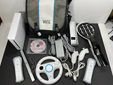 Large White Nintendo Wii [RVL-001] Bundle w/ Mario Party 8 Game Included