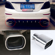 Universal Stainless Steel Car Exhaust Tails Rear Tail Silencer Tip Pipe End 63mm