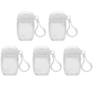 5/10pcs Portable Spray Bottle Empty Handed Sanitizer Empty Holder Hook Keychain