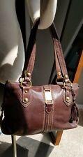 The Sak Leather Handbag Purse Satchel Bag Brown