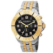 Men's Akribos XXIV AK767TTG Swiss Quartz Multifunction Two-tone Bracelet Watch