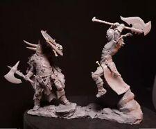 1/24 Resin Figure Model Kit Barbarians Warriors Battle Unassambled Unpainted