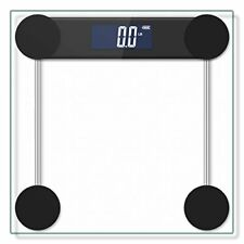 400lb / 180kg Digital Body Weight Bathroom Scale with Step-On Technology and Tem