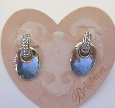Brighton LovesGoes Around  Earrings silver color -crystals - post back
