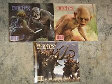 Cinefex lot NM Lord of the Rings issues 89 92 96 movie special effects magazine
