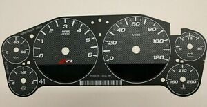 Carbon Fiber Gauge Face Overlay for 2007-2013 GM Truck and SUV Clusters Z71 New