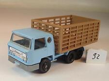 MAJORETTE 1/100 n. 219 Bernard CAMION bestiame Transporter Blu Chiaro #032