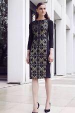 TED BAKER Mikha Dress Black NWT $335. Sz 4UK = 10US