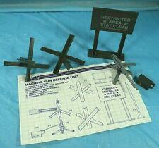 GI Joe 1984 Machine Gun Defense Unit Near Complete With Blue Prints.