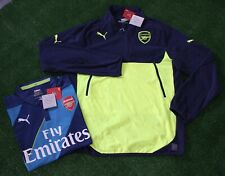 Puma Men's Arsenal Fleece Training Jacket and 3rd Jersey, Blue/Lime, Size L