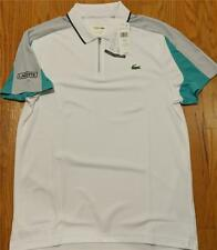 Mens Authentic Lacoste Colorblock Zip Polo Shirt White/Papeete 3 (Small) $98