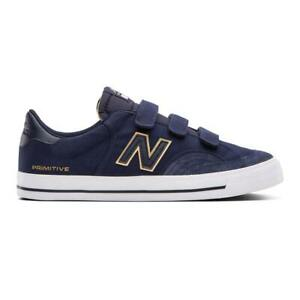"""New Balance x Primitive # Numeric """"212"""" Sneakers (Navy/Gold) Skate Shoes"""