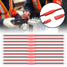 US 20Pcs JST 2Pin Connector Male Female Plug Cable Wire For Battery LED Lights