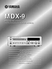 Yamaha MDX-E100 Minidisk Recorder Owners Manual