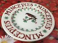"Emma Bridgewater Joy Robin Christmas Mince Pies 2017 8.5"" Plate New"