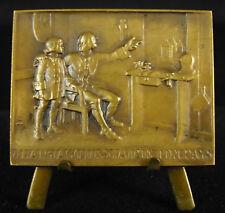 Médaille 1912 Jean-Jacques Rousseau aime ton pays citoyen de Genève Suisse medal