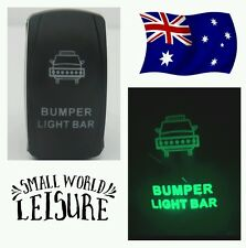 12V green Rocker Switch Bumper LED LIGHT BAR 4wd 4x4 vehicle car offroad