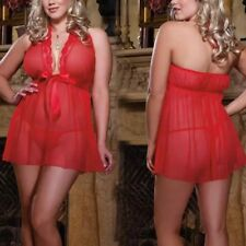 4xl Womens BBW Hotwife Babydoll Cuckold Sexy Red Lingerie Sleepwear