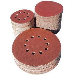 225/150/125mm Schleifscheiben Klett Exzenter Schleifpapier Haftscheiben P40-P240