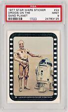 1977 Topps Star Wars sticker #24 PSA 9 Mint POP 13