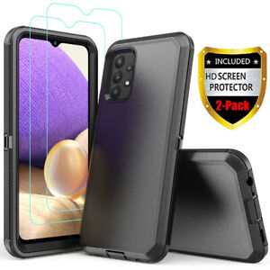 For Samsung Galaxy A32 5G Case Armor Shockproof Rugged Cover+Screen Protector