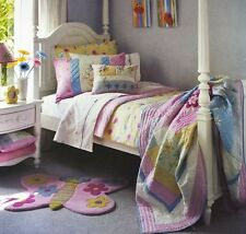 DAISY CHAIN TWIN 2pc Quilt Set Pink Floral Butterfly Flowers FRECKLES BEDDING
