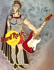 Hard Rock Cafe ROME ITALY 1990s Roman Soldier GLADIATOR Red Guitar PIN HRC #7948