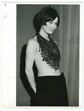 Photo Mode Pin-up tirage argentique 1966 fashion - bijoux collier -Rome Italia