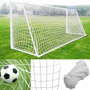 6x4ft 8x6ft 12x6ft 24x8ft Football Soccer Goal Post Replace Net Rope Training 4
