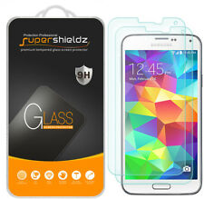 2X Supershieldz Tempered Glass Screen Protector Saver For Samsung Galaxy S5