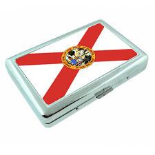 Florida State Flag D1 Silver Cigarette Case / Metal Wallet Card Money Holder