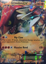 Pokemon XY Groudon XY42 EX Holo Normal/Regular Size Promo Card