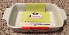 "Brand New Le Creuset White Rectangular Baking Dish 5"" X 7"""