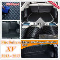 Custom Made Car Boot Cargo Mats Wheel Arches Cover Liner for Subaru XV 12 - 2017