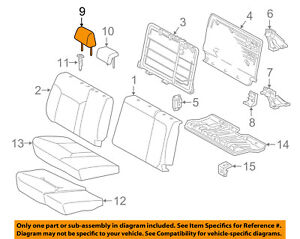 Toyota OEM 2016-2017 Tacoma Rear Seat Headrest Outer 71940-04141-B3 No Cover