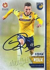 ✺Signed✺ 2015 2016 CENTRAL COAST MARINERS A-League Card STORM ROUX