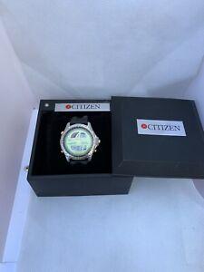 Citizen C211-E80133 Promaster Chronograph Timer Yacht Vintage Wrist Watch Japan
