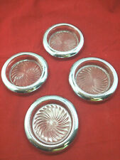 VTG Lead Crystal and Stainless Steal Coaster set of 4