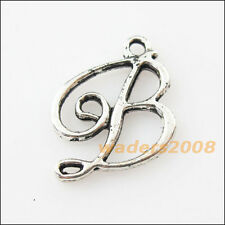 10 New Letter B Connectors Tibetan Silver Tone Charms Pendants 18mm