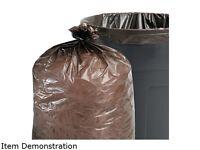 100% Recycled Plastic Garbage Bags, 33Gal, 1.3Mil, 33 X 40, Brown, 100