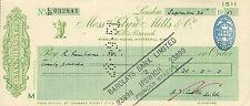 "glynn.mills & co "" holts branch whitehall london ""  september 26th 1951"