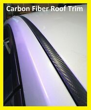 For 1992-1995 HONDA CIVIC HATCHBACK BLACK CARBON FIBER ROOF TRIM MOLDING KIT
