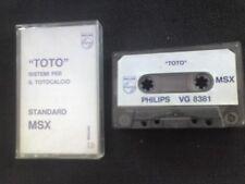 Toto X MSX Cassette Original betslip VG 8381 Philips